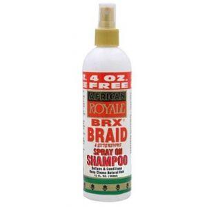 African Royale BRX Braid Spray On Shampoo 12oz
