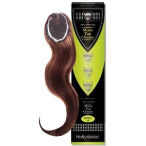 100% Human HairHollywood Remi Mono WAVE Closure 100% Hand Tied/Wavy