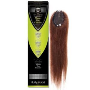 100% Human Hair Hollywood Remi Mono Closure 100% Hand Tied/Straight