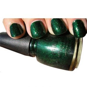 China Glaze Nail Lacquer 0.5oz/Emerald Sparkle