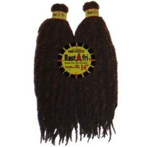 "RastAfri Afro Malibu Kinky Braid 14""-Folded(28"" total length)"
